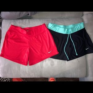 Nike womens Dri Fit Shorts Bundle (2)